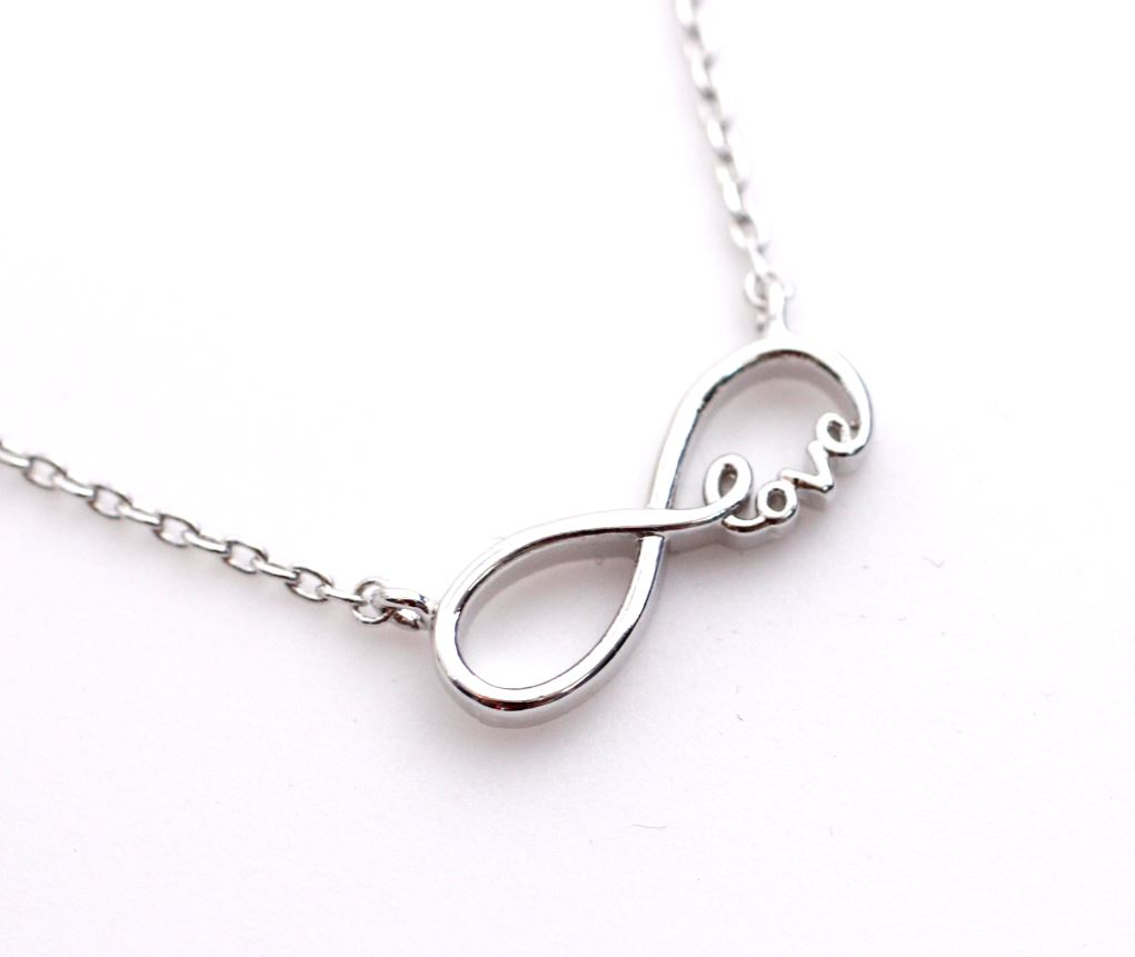 Sliver Infinity Love pendant necklace