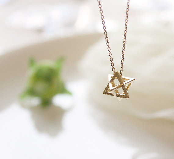 Cubic star necklace, simple necklace