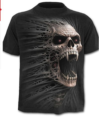 Men's Active Geometric / Skull/ Basic T-shirt