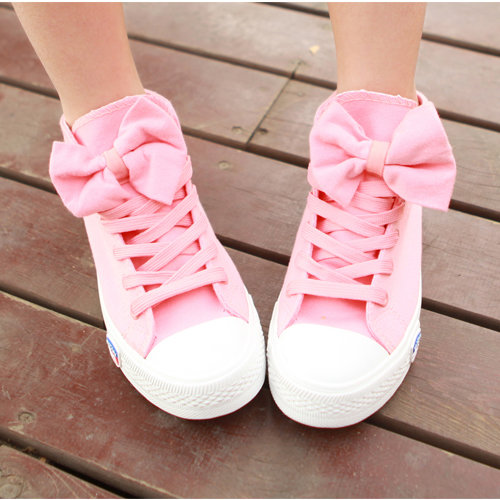 Bowknot Canvas Shoes