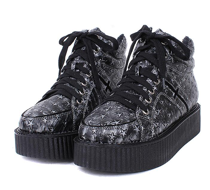 9bb17b1fdbe5 Harajuku Crosses Galaxy Platform Shoes Creepers on Luulla