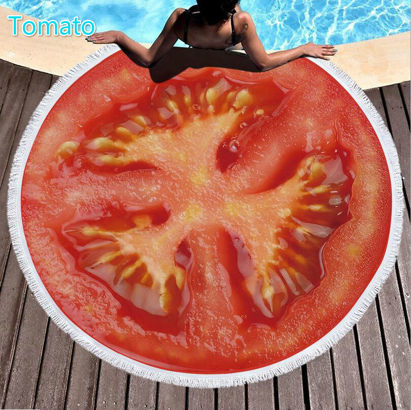 tomato Tassel Round Beach Towel/Bath Towel