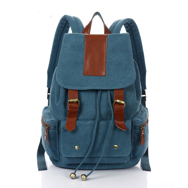 Fashion Vintage Nice Canvas With Leather Backpack