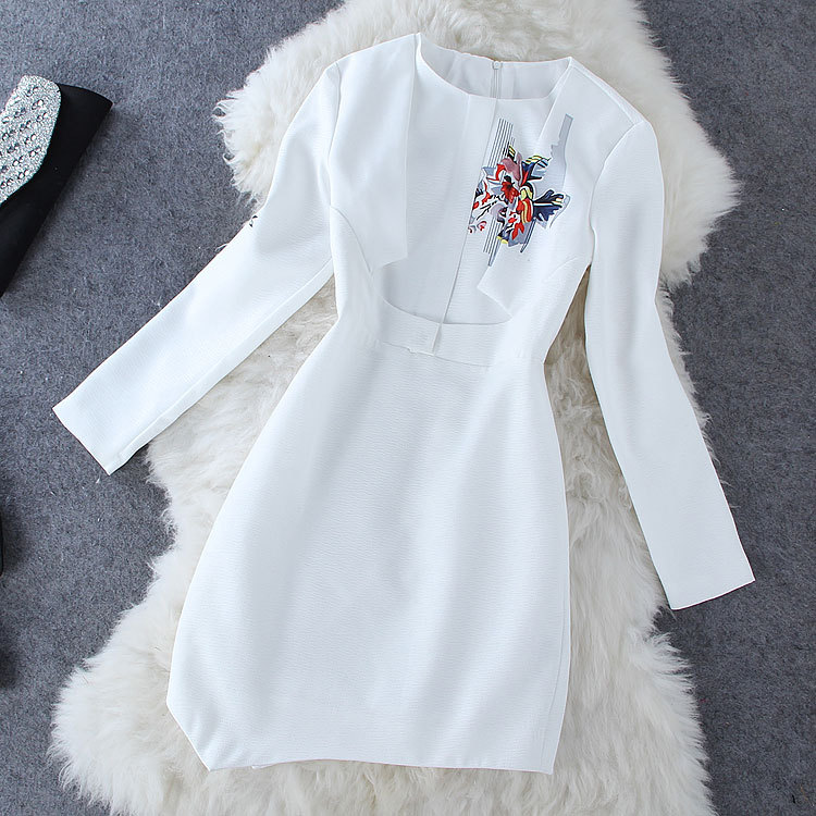 Fashion Fashion printing Splicing dress