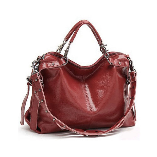 Fashion Rivet Leather Shoulder Bag&Handbag