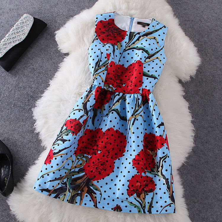 Fashion Printed Polka Dot Dress BA721D