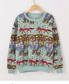 Winter Sweaters Clothing For Women New Fall Winter 2013/14 Harajuku Pastel Bleu Fleece Pullover Sweater