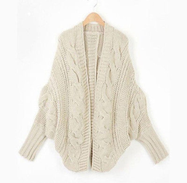 Oversized Autumn Winter Knitted Cardigan Sweater on Luulla