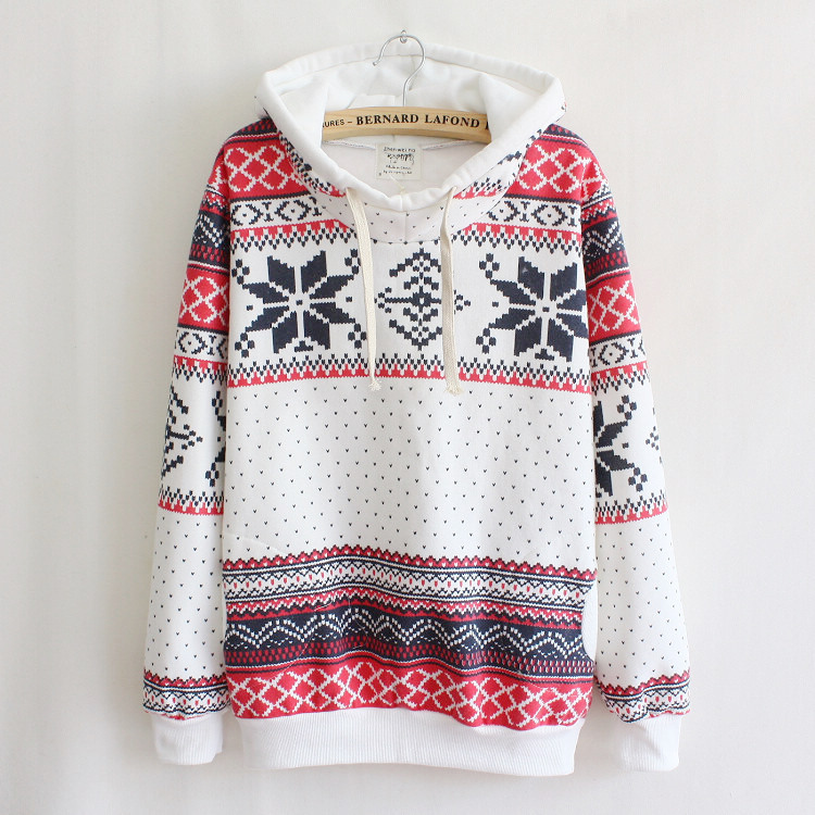 Christmas Snowflake Sweater Pullover Jacket for women