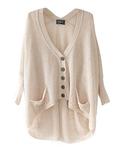 Hot sale Lazy Loose Bat Hollow Sweater for women