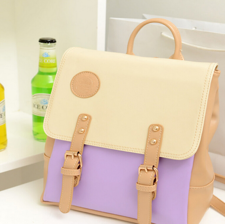 New Fashion Fresh leather pu School Backpack