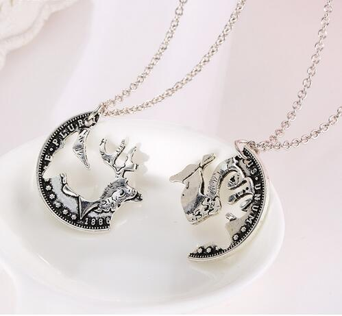 2016 New fashion women Couples Deer Necklaces