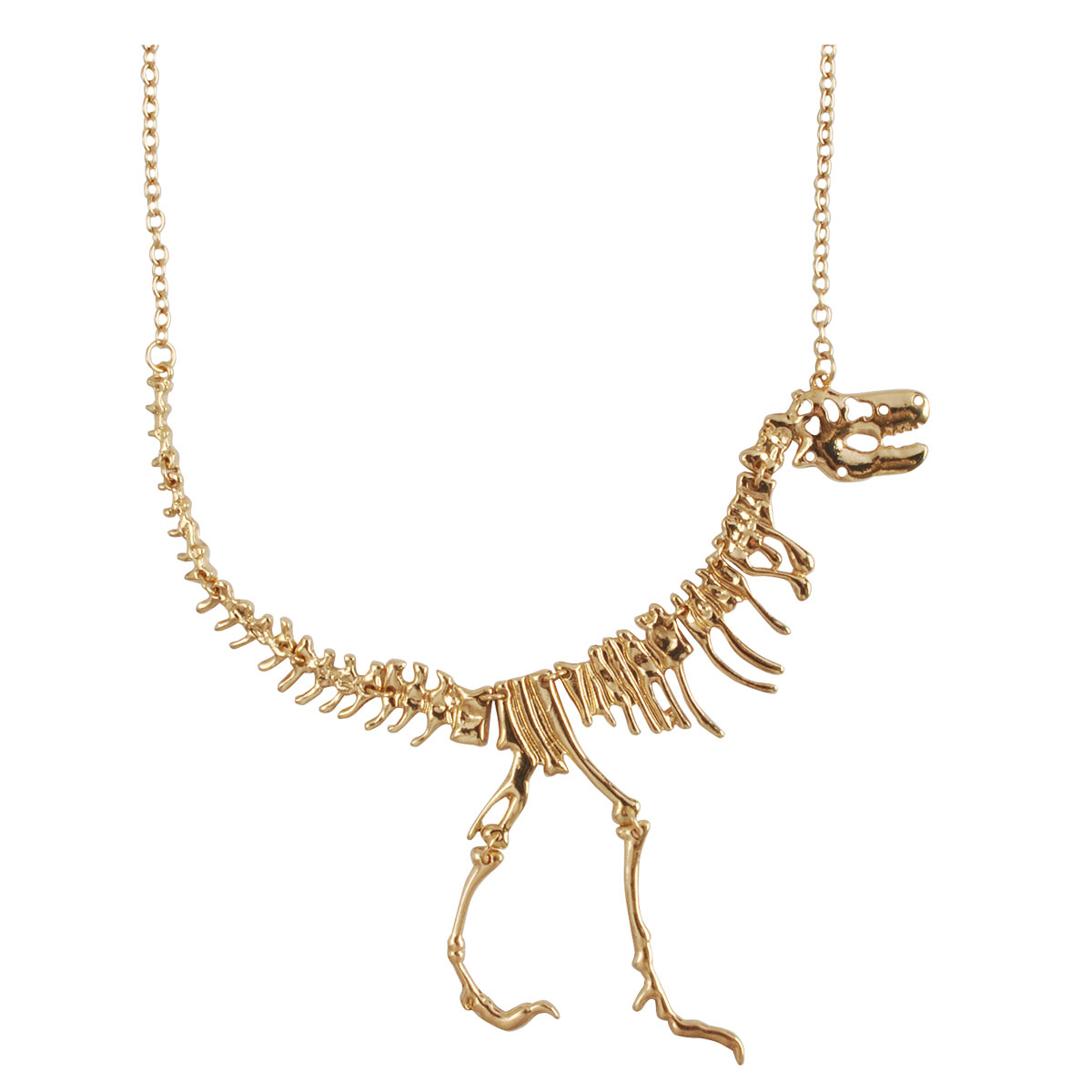Dinosaur Fossil Skeleton Necklace Pendant