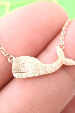 Cute Whale Sea Animal Charm Necklace