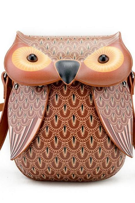 Owl Coin Purse Phone Package Cartoon Shoulder Bag Animal Messenger Bag