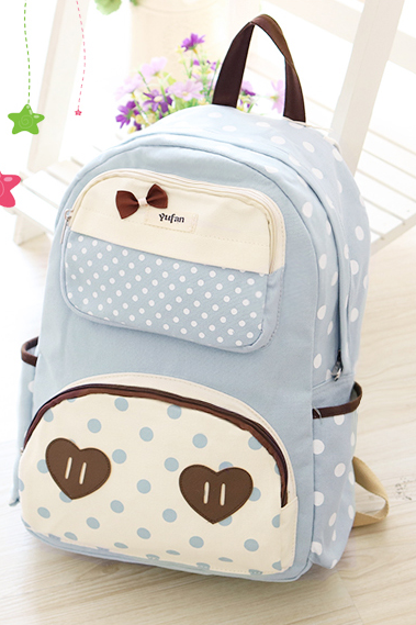 CUTE DOT BOW LOVE BACKPACK