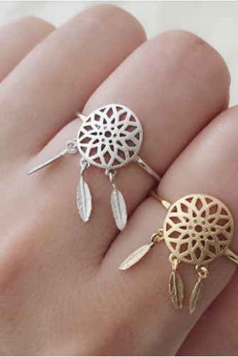 Dreamcatcher Ring in Silver and Gold
