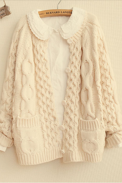 Autumn/Winter Knitting Twist To Restore Ancient Ways More Cardigan Sweater Sweater Coat