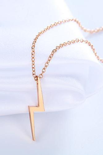 Exquisite Personalized Lightning Pendant Necklace