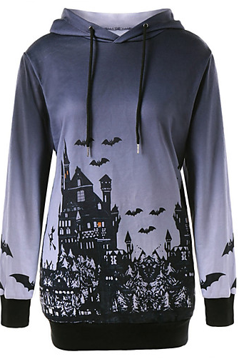 Women's Cartoon Print halloween Hoodie
