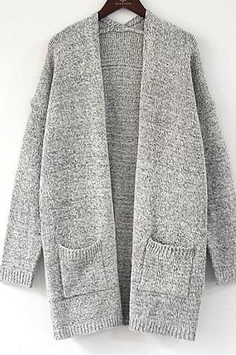 Women's Solid Colored Basic Cardigan