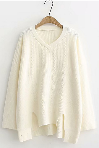 Women's Solid Colored Basic Pullover sweater