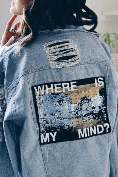 "Where is My Mind?"" Denim jacket"