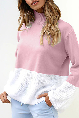 Women's Color Block Street chic Pullover sweater