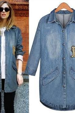 Short Sleeved Denim Coat