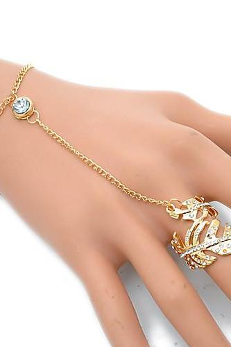 Women's Active Cute Elegant Alloy Floral / leaf Bracelet