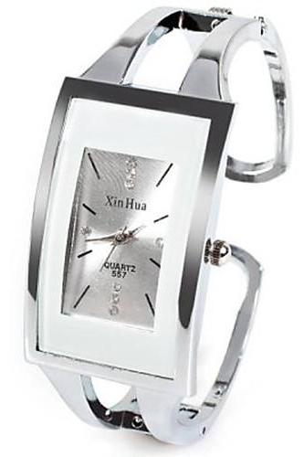 Women's watch,Ladies watch,Fashion Watch,Unique Creative Watch,Square Watch,Quartz Silver Rhinestone watch,Imitation Diamond watch,Analog watch,Casual watch,Bangle watch