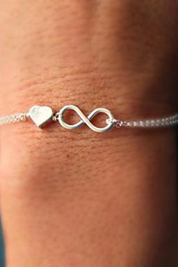 Love heart & Number 8 bracelet