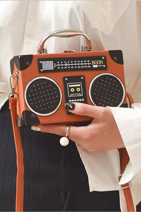 Retro Radio Box Style Handbag Shoulder Bag