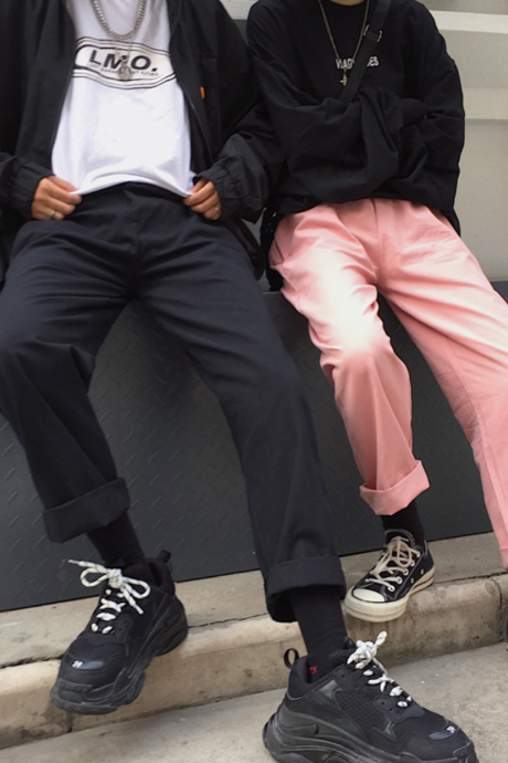 Free shipping RETRO CHINO PANTS