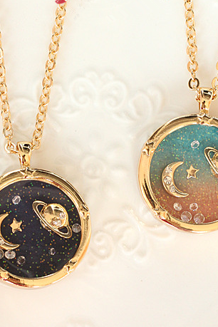 2015 fashion Harajuku Fantasy universe planet Saturn moon diamond the long necklace sweater chain