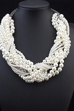 New Women's Intertwined Pearl Necklace for 2016 Valentine's Day and mother's Day