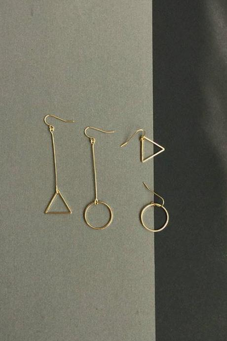 Simple geometric cut women's Earrings