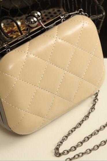 Candy-colored link chain handbag/clutch bag/evening bag/shoulder bag