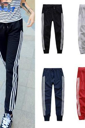 Three Vertical Striped Joggers, Sweatpants, Sports Pants