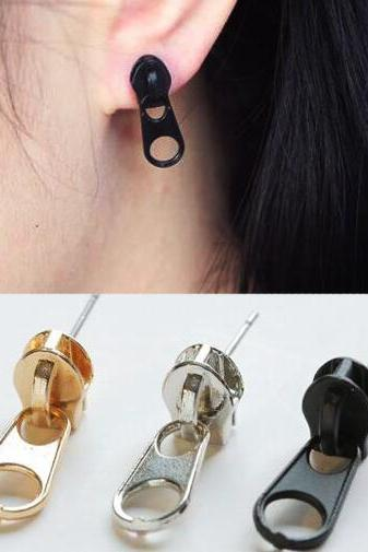Zipper Ear Stud