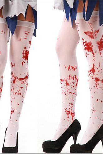 Halloween cosplay costume party bleed blood socks