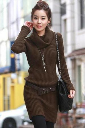 Harajuku Elegant Long Warm Sweater dress