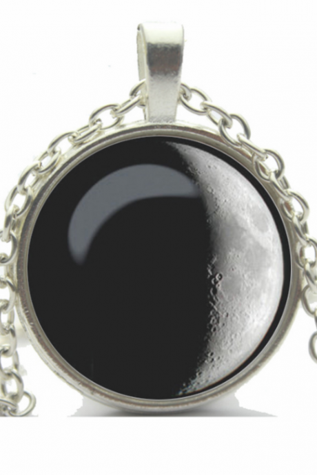Planet Moon Necklace