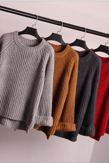 Free shipping Loose knit women sweater