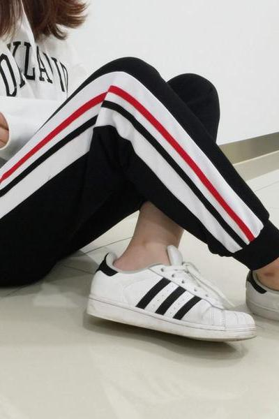 Track Pants Featuring Stripes Detailing