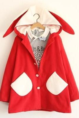 rabbit ears coat