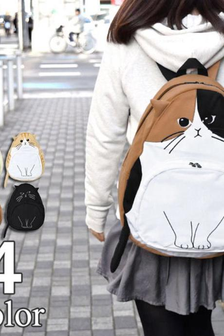 kawaii cat backpack school bag