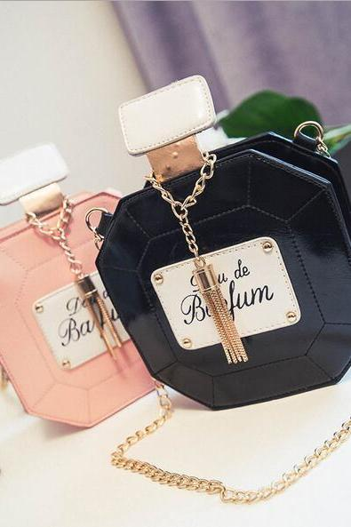perfume bottle shoulder bag