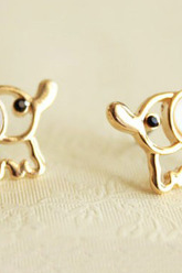 Cute opal rhinestone Elephant Earrings
