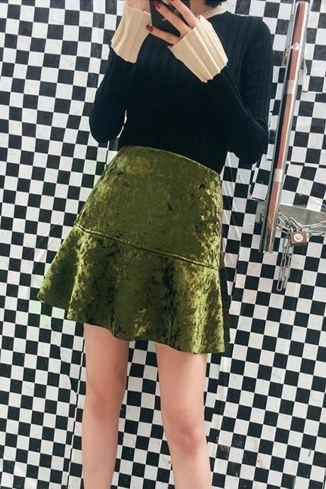 Super Quality Velvet Skirt